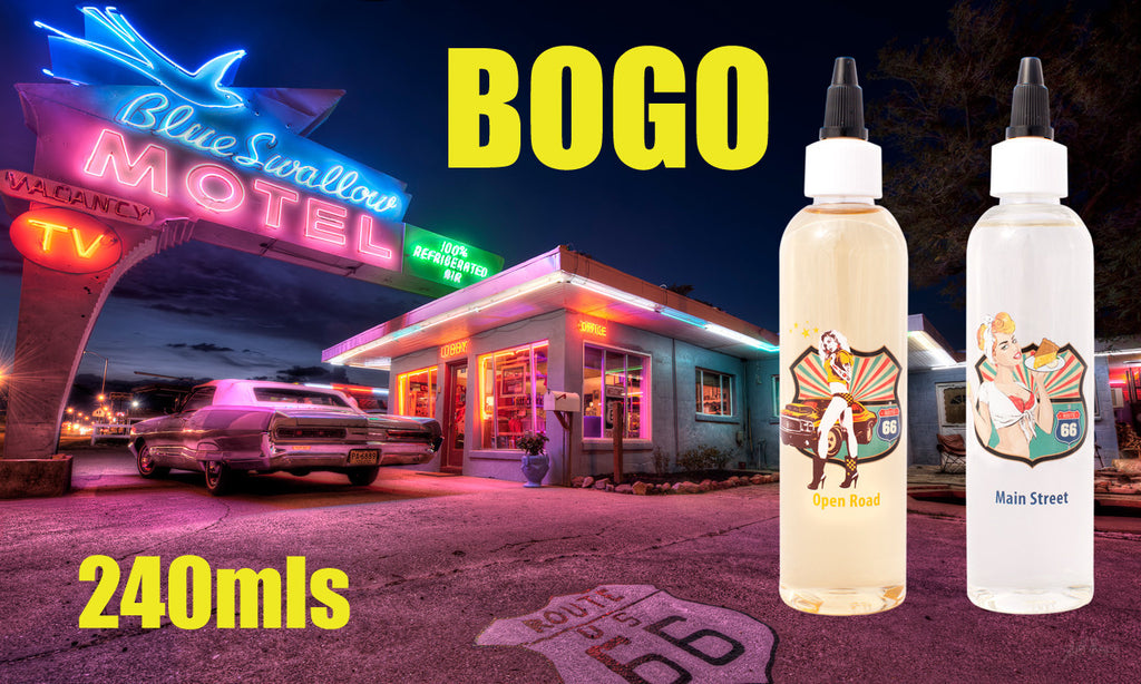 A True American E-Juice: Route 66 120ml BOGO