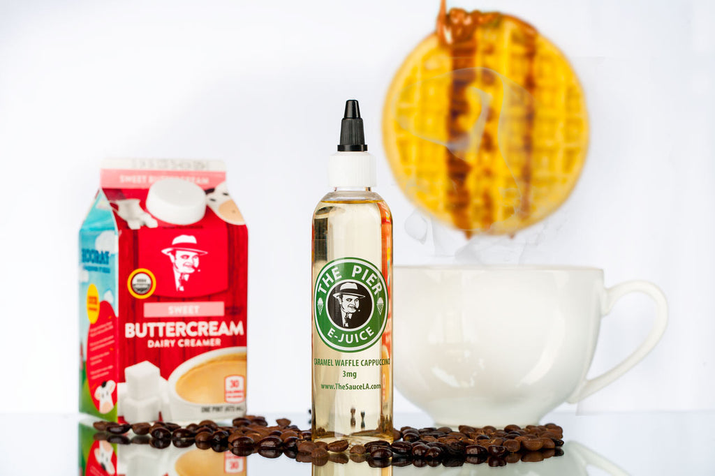 Wake Up To This E-Juice Flavor: Caramel Waffle Cappuccino by The Pier