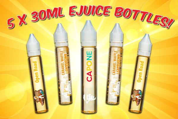 The Best Unicorn Vape Juice Sample Pack - Five 30mL e-Juice Bottles (150mL e-Liquid Total)