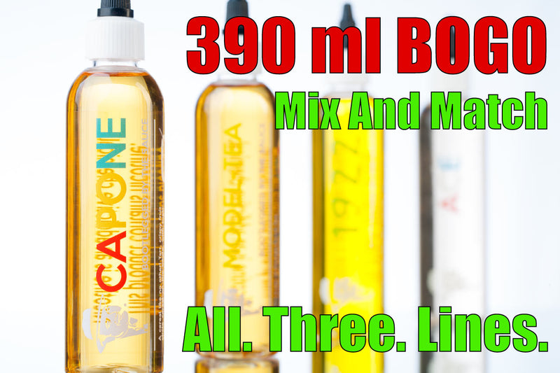 390ml Vape Juice Sample pack- the saucela premium e-juice