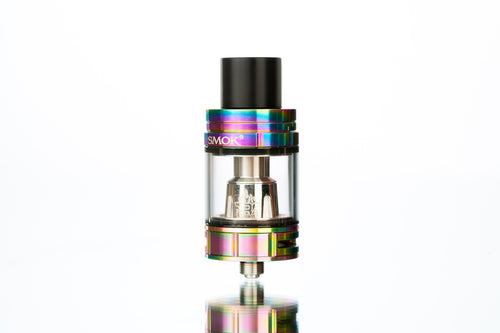 SMOK TFV8 Big Baby Beast 7 Color Vape Tank With White Background and Polished Mirror Finish
