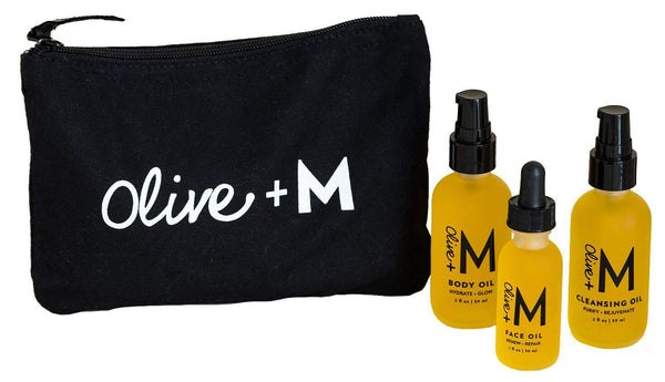 Olive + M All Natural Travel + Glow Set (5 fl oz)