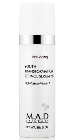 M.A.D SKINCARE Youth Transformation Retinol Serum 2% 1 oz