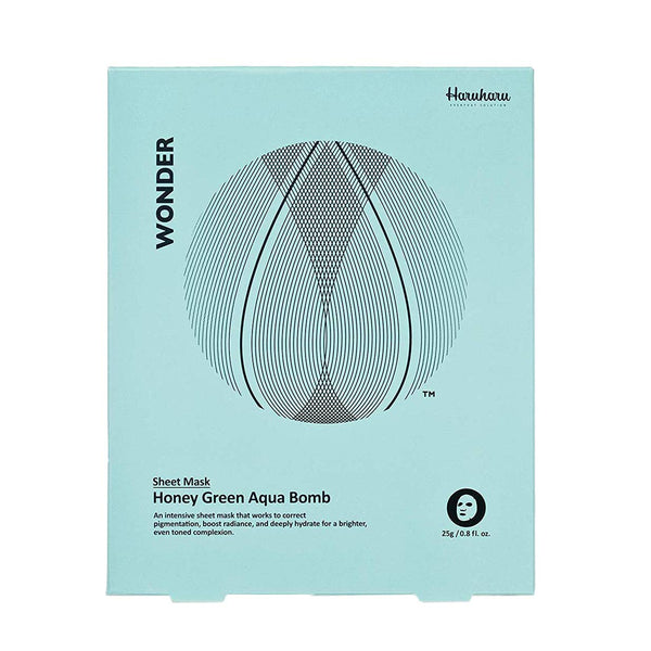 Haruharu Wonder Honey Green Aqua Bomb Mask (5 Sheets)