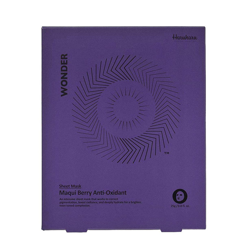 Haruharu Wonder Maqui Berry Anti-Oxidant Mask (5 Sheets)