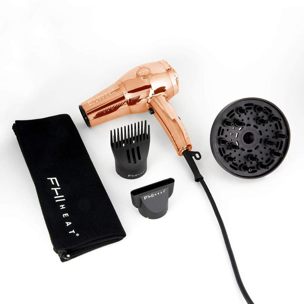 FHI Heat Platform Pro 1900 Turbo Lite Rose Gold Chrome Hair Dryer