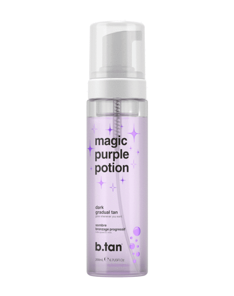 b.tan magic purple potion gradual glow dark mousse 6.7 fl oz / 200mL