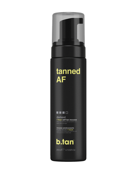 b.tan tanned AF... self tan mousse (6.7 oz)