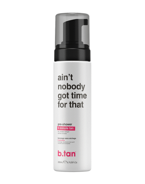 b.tan ain't nobody got time for dat! ... pre shower mousse (6.7 oz)