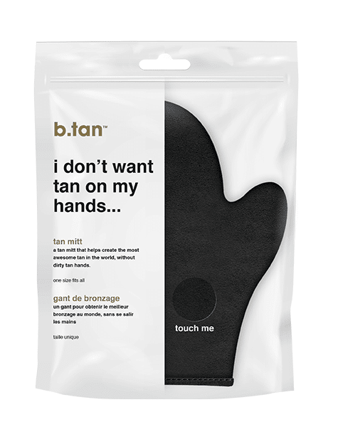 b.tan i don't want tan on my hands... tan mitt OSFA