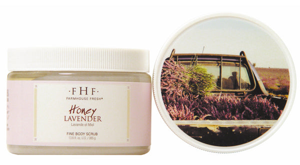 FarmHouse Fresh Fine Salt Body Scrub - Honey Lavender (12 Oz)