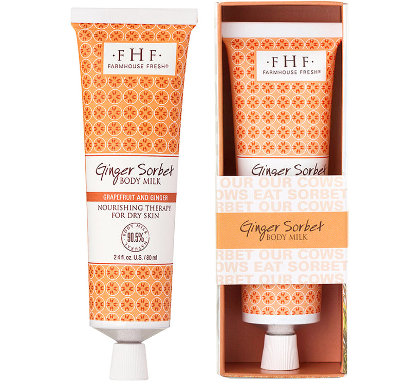 FarmHouse Fresh Ginger Sorbet Body Milk Travel Tube (2.4 oz )