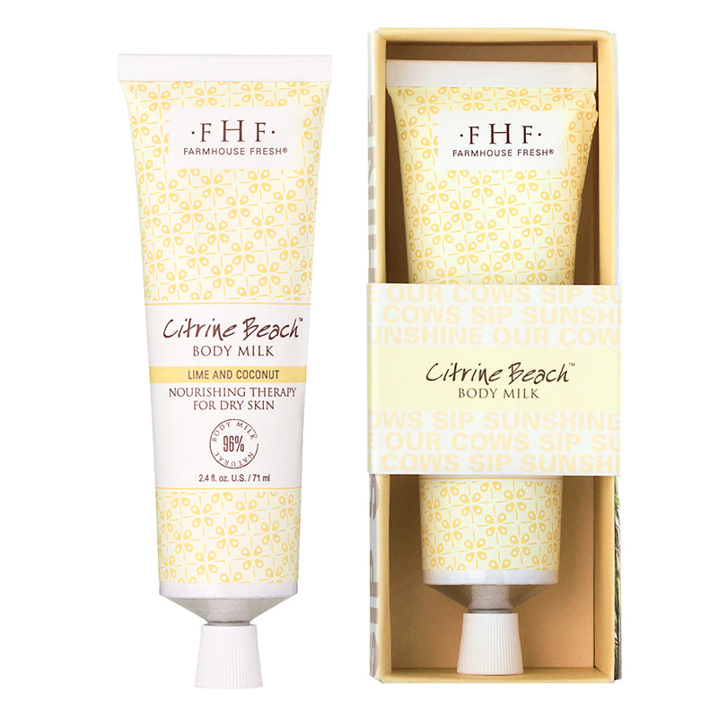 FarmHouse Fresh Citrine Beach Body Milk Travel Tube (2.4 oz )