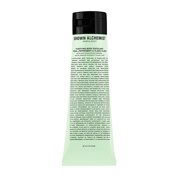 Grown Alchemist Purifying Body Exfoliant - Pearl, Peppermint & Ylang Ylang (170 ml)