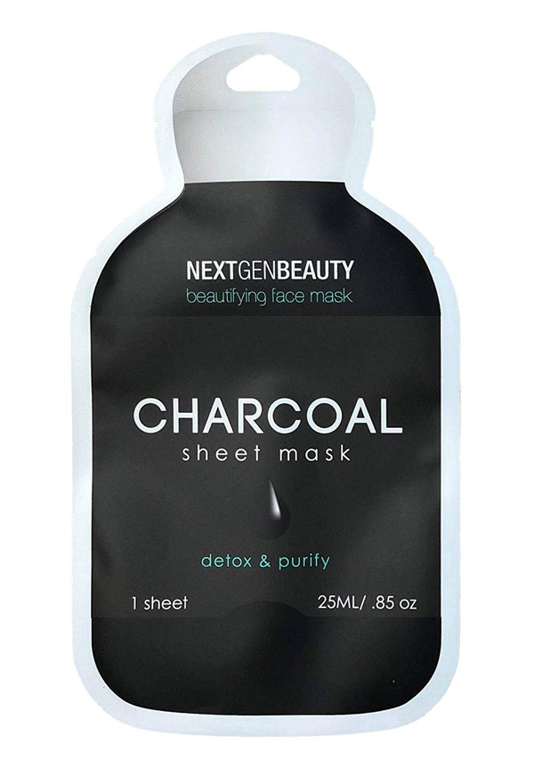 NextGenBeauty Charcoal K Beauty Sheet Mask (5-Pack)
