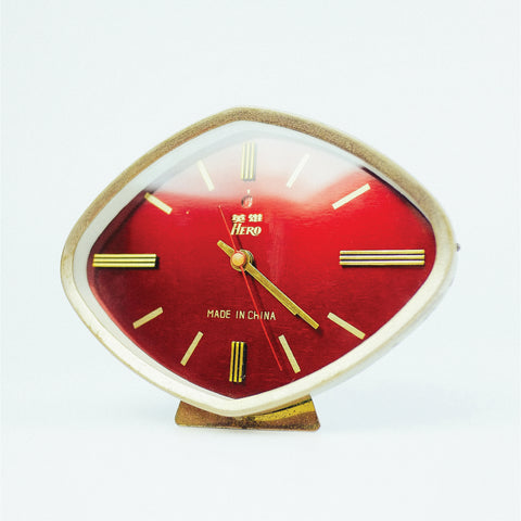 1950s Diamond Shaped Hero Brand Classic Table Clock