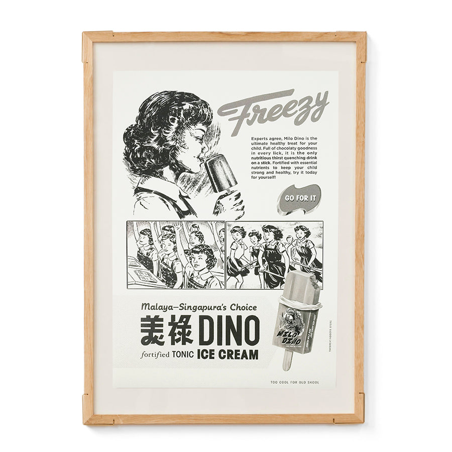 Milo Dino Freezy Ice Cream Poster