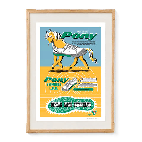 Pony Badminton Legend Shoe Poster