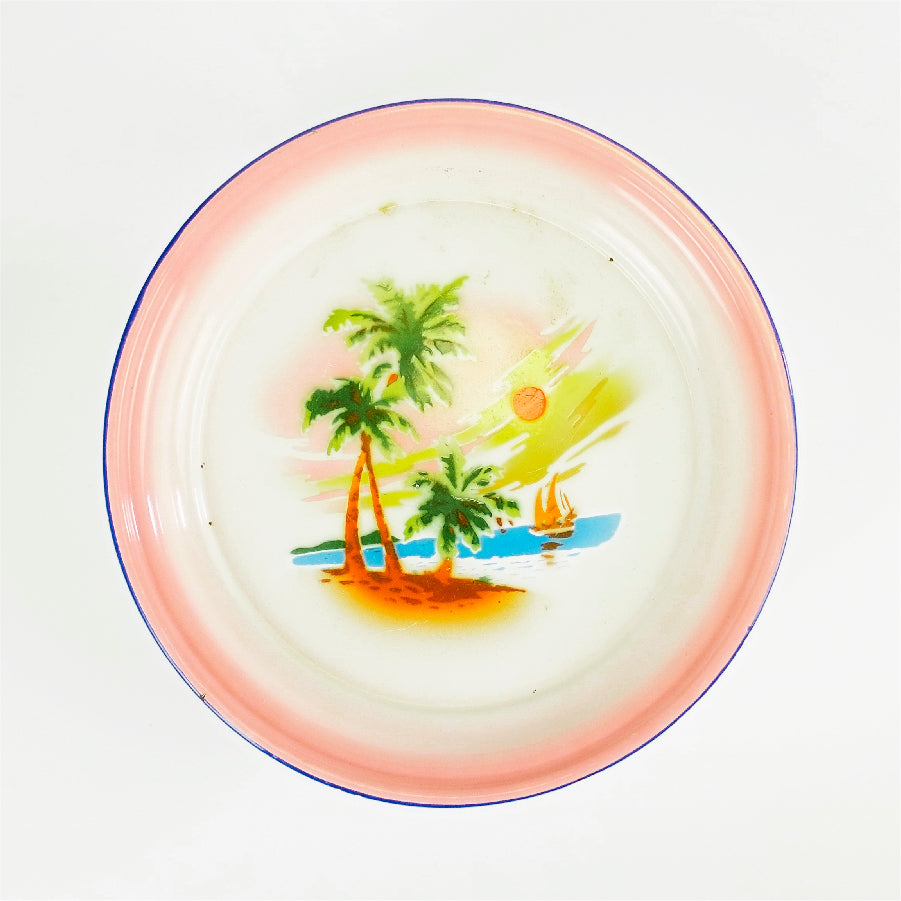 Tropical Landscape Enamel Tray