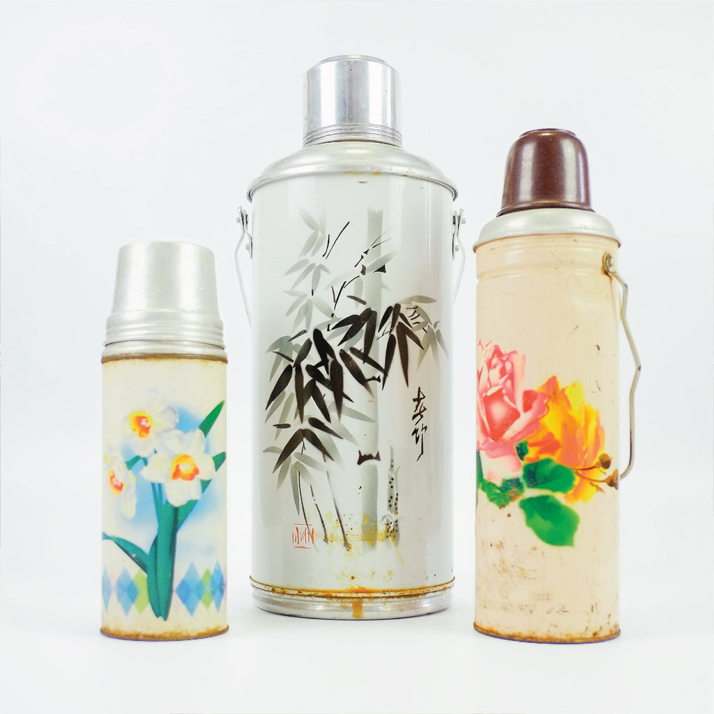 Vintage Chinese Vacuum Flasks