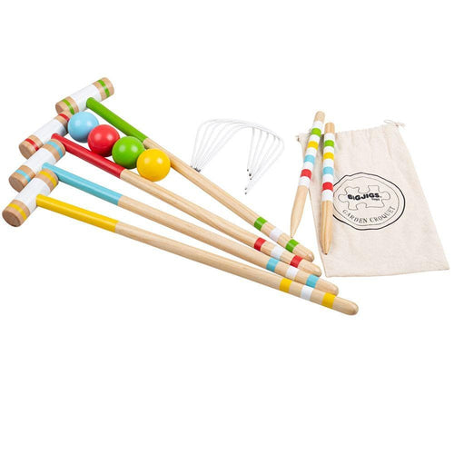 Wooden Garden Croquet Set