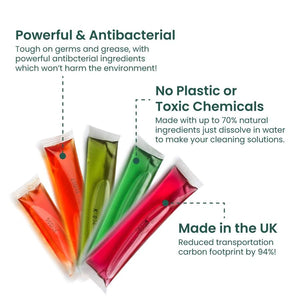 Plastic-Free Soluble Kitchen Cleaner (5 Pack) - Antibacterial
