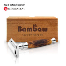 Load image into Gallery viewer, Double Edge Safety Razor - Bamboo & Stainless Steel