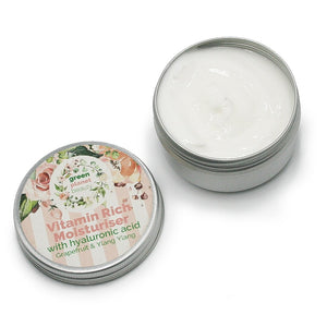 Face Moisturiser with Hyaluronic Acid, Grapefruit & Ylang Ylang