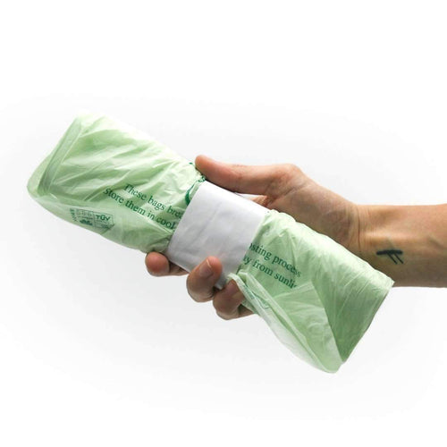 Biodegradable Compostable Bin Liners 7 Litres (52 bags per roll)