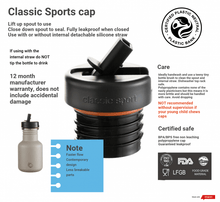 Load image into Gallery viewer, Steel Curvy Bottle with NEW Sports Cap