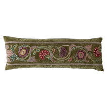 Antique Raised Embroidered Appliqué Pillow (#A081120 | 13 x 36