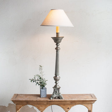 Antique Lamp Made from Candle Holder