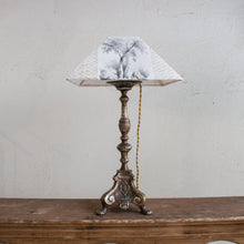 Antique Lamp Made from Candlestick
