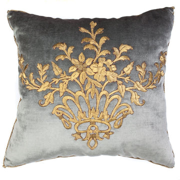 RESERVED: Antique Ottoman Empire Raised Gold Metallic Embroidery (#E122120 | 20 x 21