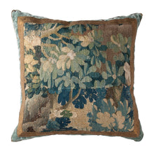 Antique Verdure Tapestry Fragment (#T032920A&B | 22 3/4  x 22 3/4