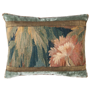 RESERVED: Antique Verdure Tapestry Fragment (#T042420A | 13 x 17