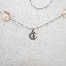 Baroque Pearl Necklace with Pave Diamonds and Couture Glass Beads
