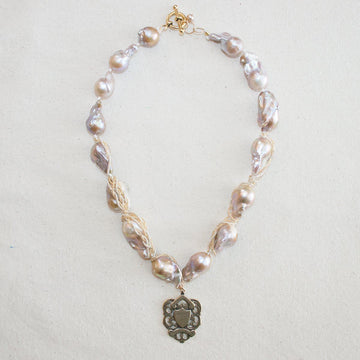 Baroque Pearl Necklace with Small Beads