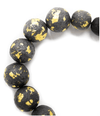 Black and Gold Foil Ball Necklace Jewelry ibu