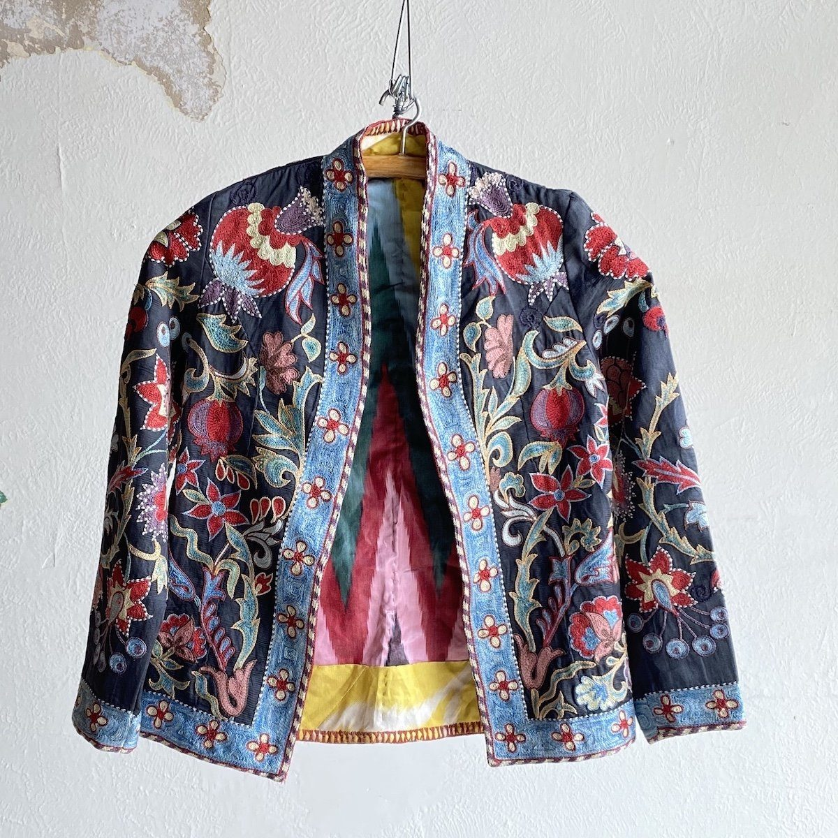 Hand-Stitched Suzani Jacket from Uzbekistan