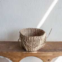 Hand-Woven Seagrass Fringe Basket