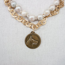 Multi-chain Necklace with Baroque Pearls