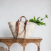 Natural Market Basket Tote