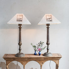 Pair of Antique Candlestick Lamps