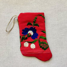 Hot Pink & Royal Blue Floral Handmade Mini Stocking