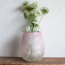 Pink Frosted Vase