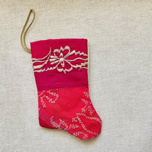 Hot Pink Multi Handmade Mini Stocking
