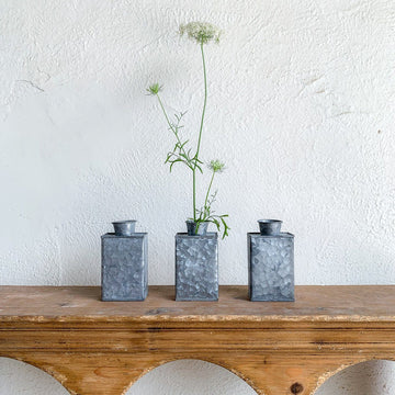 Small Galvanized Metal Vases