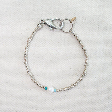 Tiny Bead and Pearl Bracelet