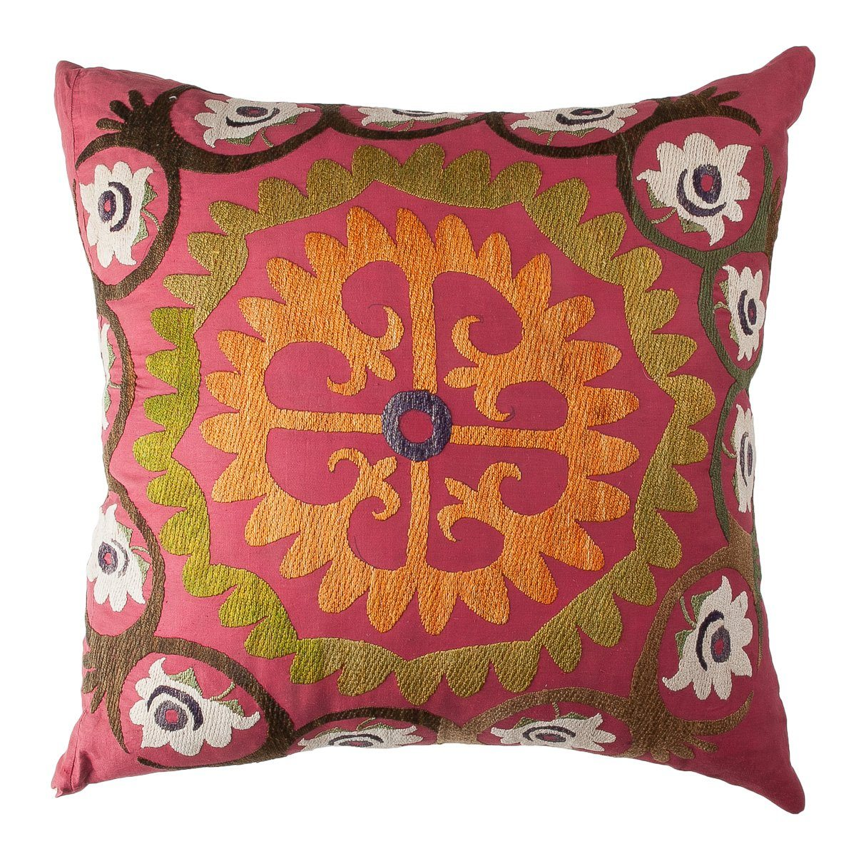 Vintage Suzani Pillow (#S101220) | 24 x 24